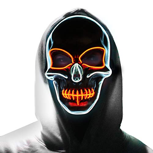 Skull Mask - Halloween LED Light Up Purge Mask - Copper