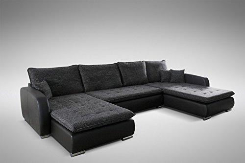 Kuchen Preisbombe Schlafsofa Sofa Couch Ecksofa Eckcouch In Schwarz