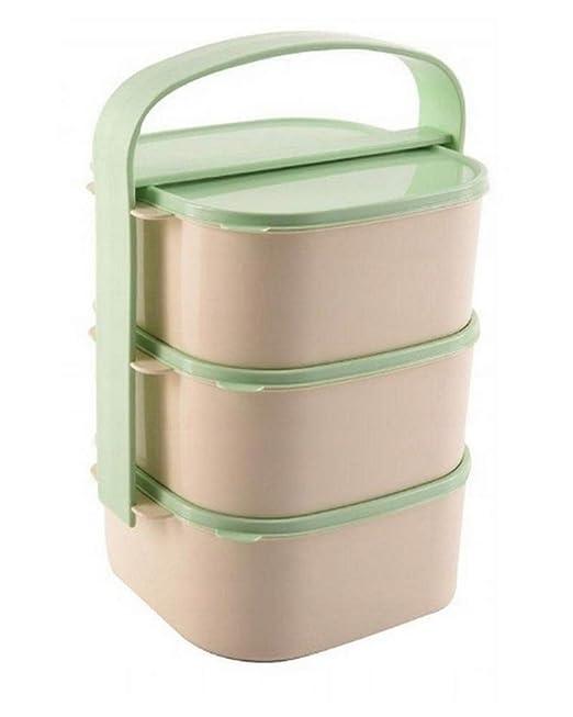 Torre de contenedor de alimentos de 3 capas. fiambrera Apto para ...