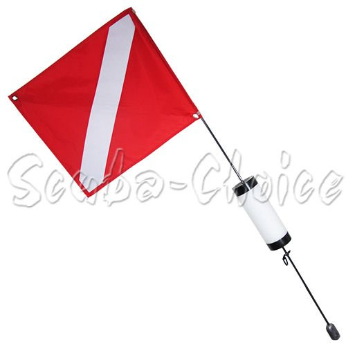 (Scuba Diving Spearfishing Free Dive Flag w/Weight Float 4ft (Medium))