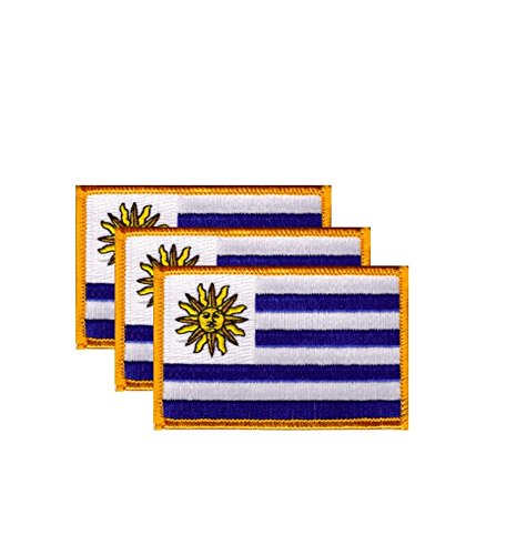 PACK of 3 Uruguay Flag Patches 3.50
