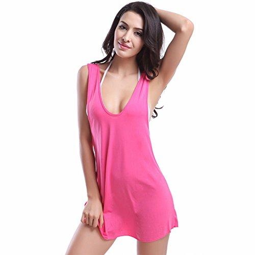 Pinkyee - Camisola - para mujer rosa (b)