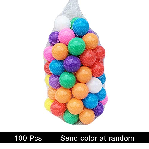 Mazhashop 100pcs Colorful Ball Fun Ball Soft Plastic Ocean B