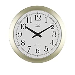 SMC 20-inch Modern Wall Clock, Silver - Modern Decorative Round Ultra Thin Clock for Home Decor Wall Clocks