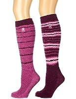 Noble Mount Women's (2 Pairs) Soft Anti-Skid Fuzzy Winter Knee High Socks