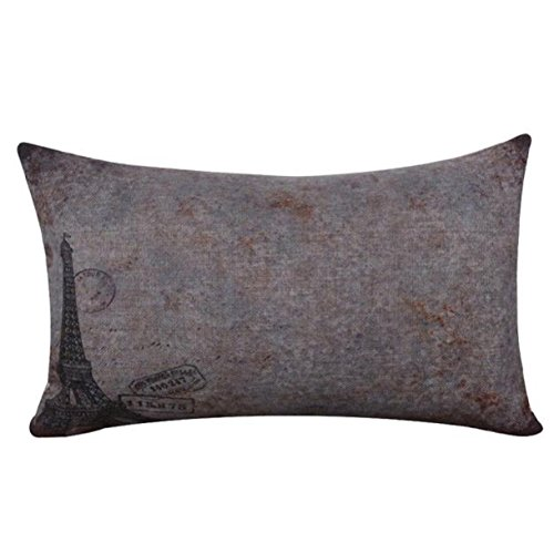 [Lookatool Linen Square Throw Flax Pillow Case Decorative Cushion Pillow Cover (30cm x 50cm, E)] (Car Wash Costume Ideas)