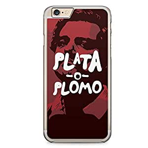 iPhone 6s Transparent Edge Case Narcos Plata O Plomo