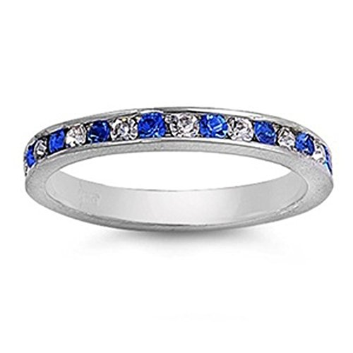 Band Sapphire Ring - 8