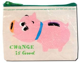BLUE Q Change Is Good Coin Purse, 1 Each
