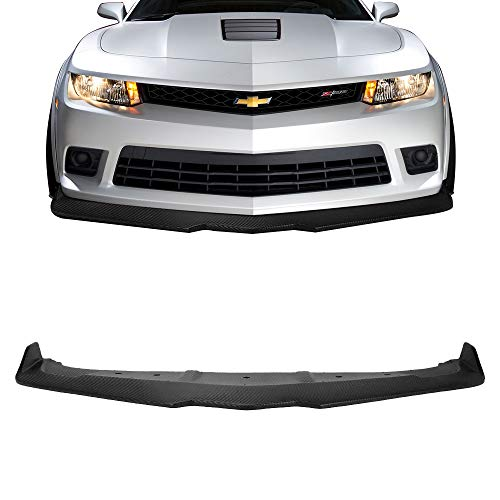 Front Bumper Lip Fits 2014-2015 Chevy Camaro SS & Z/28 | Ikon Style Unpainted PP Air Dam Chin Splitter Spoiler Lip by IKON MOTORSPORTS ()