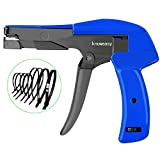 Cable Tie Gun,Knoweasy Fastening Cable Tie Tool,Die-Cast Steel Flush Cut Point Zip Tie Gun with Steel Handle for Nylon Cable Tie,7 Inches Length (Color: Blue)