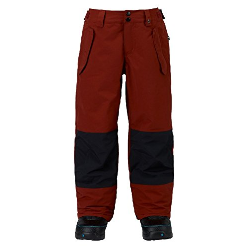 Burton Boys' Parkway Pants, Fired Brick/True Black, X-Large