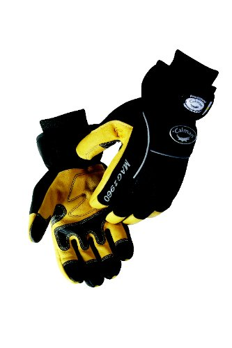Caiman 2960-6 Pig Grain Leather Winter Multi Activity Gloves with Heatrac Micro Fiber Insulation