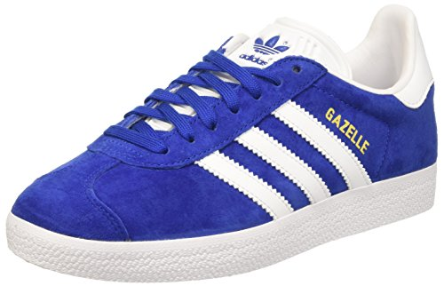 Adidas BB5482 Gazelle, Scarpe da Ginnastica Basse Unisex Adulto Blu (Collegiate Royal/White/Gold Metallic)