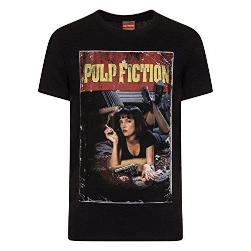 Pulp Fiction Official Gift Mia Wallace Vintage Poster Shot Mens T-Shirt XL -