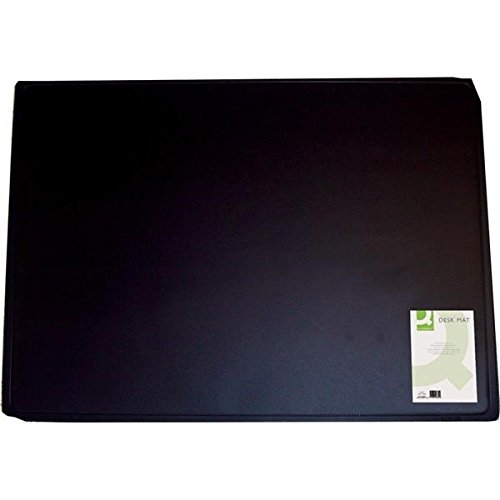 Q CONNECT DESK MAT 400X530 BLACK KF26802