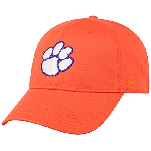 NCAA Clemson Tigers Men's Fitted Relaxed Fit Team Icon Hat, Orange