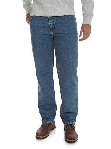 (Rustler Classic Men's Big and Tall Big & Tall Classic Relaxed Fit, Medium Stonewash, 48x30)