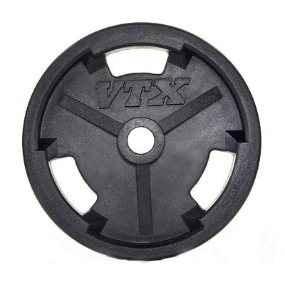 Troy Barbell 25 lbs Olympic Rubber Grip Plate