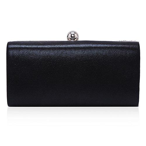 Evening Damara Wedding Womens Black Box Pearl Charming Handbag Bag Mosaic Party rq1wF1fS