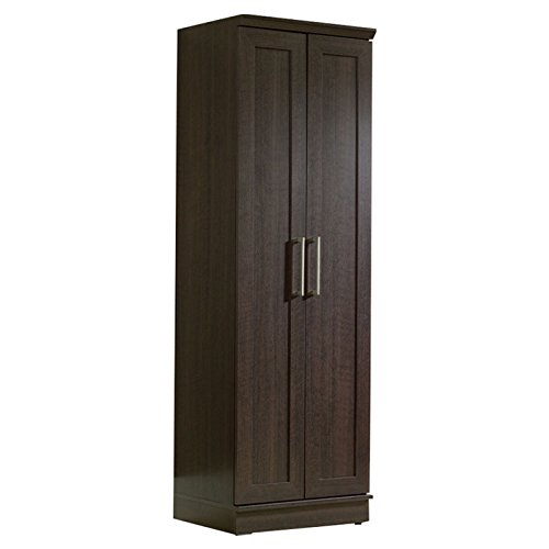 Utility Storage Cabinet Tall Cabinets Kitchen Pantry Cupboard Bedroom Closet Organizer Wood Furniture Shelf Food Shelves Wooden Black NEW