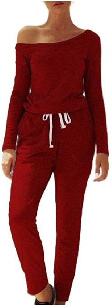 Coolred-Women Slimming Pure Color Casual Leisure Fall Winter Overall Pants