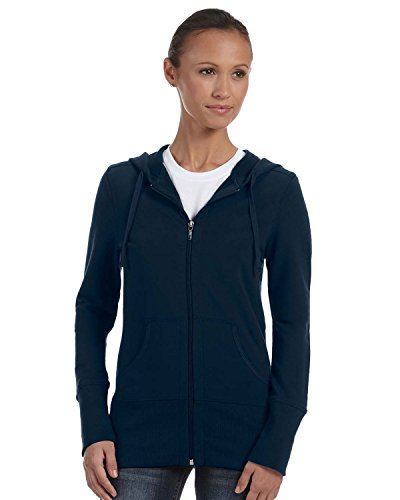 Hooded Pullover Bella (Bella Women's French Terry Lounge Full Zipper Hooded Pullover, midnight, Large)