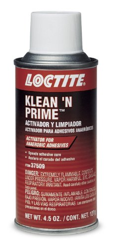- Loctite 37509-6PK Klean 'N Prime Anaerobic Activator - 4.5 oz. Aerosol, (Pack of 6)