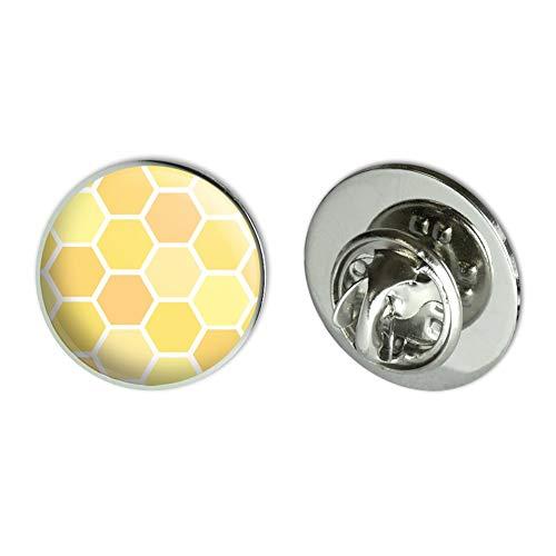 GRAPHICS & MORE Yellow Honeycomb Pattern Metal 0.75
