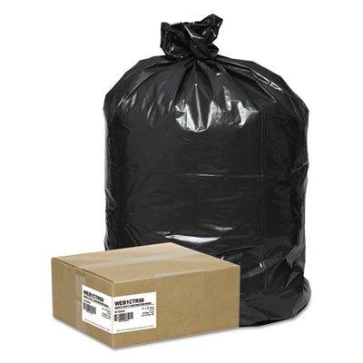 Webster WEB1CTR50 LDPE Handi Bag Contractor Grade Waste Can Liner, Super Value Pack, 2.5 Mil, Flat Seal, 48