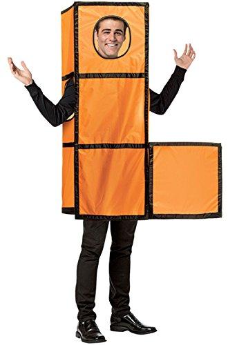 Video Game Tetris Tetrimino Orange Adult Costume]()