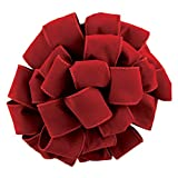 "Wired Brick Red Velvet Christmas Ribbon 2 1/2"" #40 - 50 Yards"