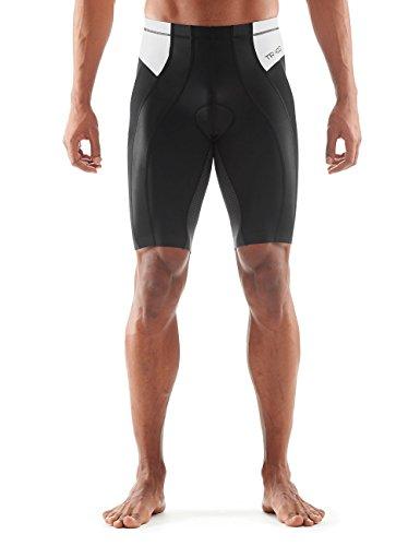 SKINS Men's Tri 400 Triathlon Shorts, Black/White, - Skins Shorts Triathlon