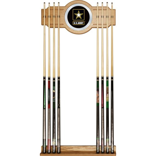 (United States Army Billiard Cue Rack with Mirror)