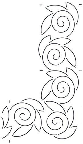 Golden Threads Swirl Border Quilt Stencil by Golden Threads
