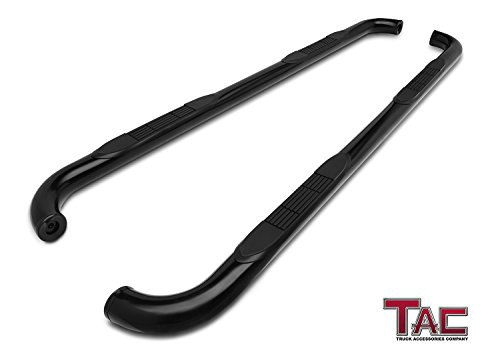 "TAC Side Steps for 1988-1998 Chevy/GMC C/K 2 Door Extended CAB (Incl. Z71) Pickup Truck 3"" Black Nerf Bars Running Boards"