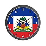 CafePress – Haiti Flag – Unique Decorative 10″ Wall Clock For Sale