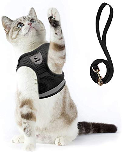 Cat Harness and Leash Set for Walking Cat and Small Dog Harness Adjustable Reflective