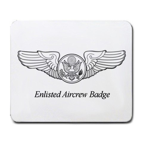 Enlisted Aircrew Badge Mouse Pad