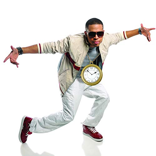Skeleteen Jumbo Gold Clock Necklace - White Rabbit Clock, Hip Hop Rapper Clock - 1 Piece - http://coolthings.us