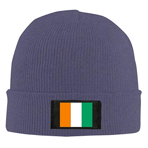 Flag Ivory Coast Unisex Warm Winter Wool Hat Knit Beanie Skull Cap