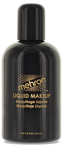 Mehron Makeup Liquid Face & Body Paint, BLACK – 4.5oz