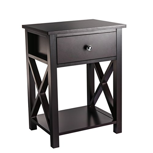 MAGIC UNION X-Design Side End Table Night Stand Storage Shel