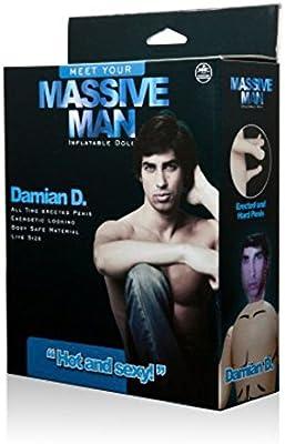Amazon.com: Massive Hombre muñeca inflable Damian D: Health ...