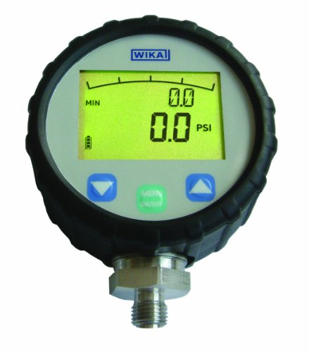 WIKA 50365631 Standard Digital Pressure Gauge, Stainless Steel 316L Wetted Parts, 4-1/2