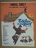 song sheet SUNRISE SUNSET Fiddler on the Roof