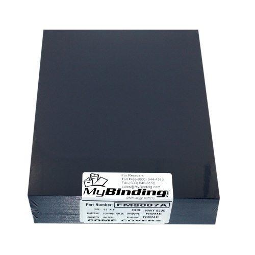 Navy Blue 8.5'' x 11'' Regency Leatherette Covers - 100pk MyBinding FM8007A Navy