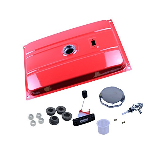 (FLYPIG Red Universal Generator 7 Gallon Gas Fuel Tank with Chrome Cap and Fuel Valve Fits 26.5 Liters)