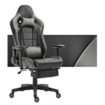 Gaming Chair Video Game Chairs Ergonomic Racing Office Chair Heavy Duty E-Sports Chair for pro Gamer Seat Height Adjustable Recliner with Headrest and Lumbar Support Pillow