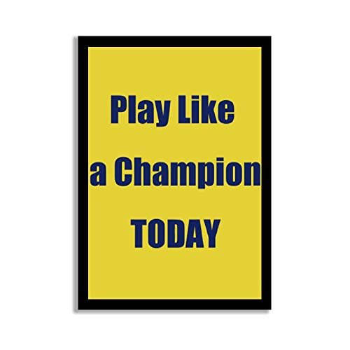 rfy9u7 Wood Pallet Design Wall Art Sign Plaque with Frame Play Like A Champion Today Wood Framed Sign Wooden Signs